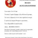 La section des Jeunes Sapeurs-Pompiers recrute!