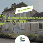 Eté 2021 : Les mairies annexes restent ouvertes tout l'été !